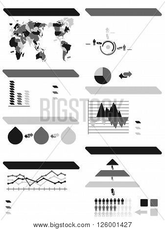 INFOGRAPHIC DEMOGRAPHIC ELEMENTS NEW GREY for web and other
