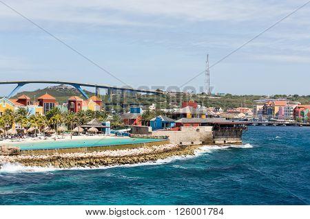 An Infinity Pool on Curacao under Bridge