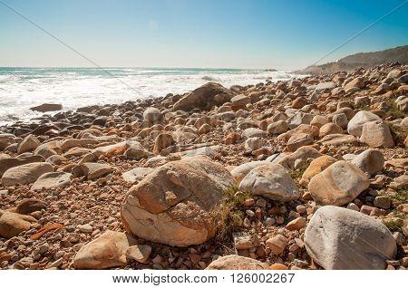 A Rocky Beach By Cape Town