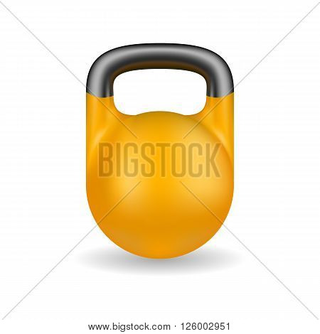 Yellow weight isolated in white background. Sport icon. Weight icon. Vector illustration.