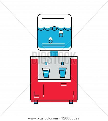 Water Cooler icon. Line style Vector Illustration .