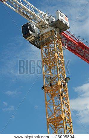CHARTRES, FRANCE - APRIL 16: Cranes of the new Mayor of Chartres