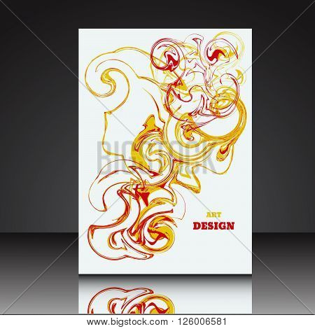 Abstract A4 background brochure flyer eps10 vector illustration 4