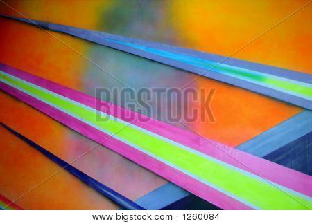 Abstract Diagonal Neon Colors