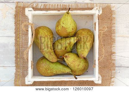 Pears In The Box On The Gunny Cloth