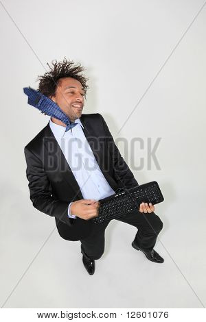 Businessman eccentric
