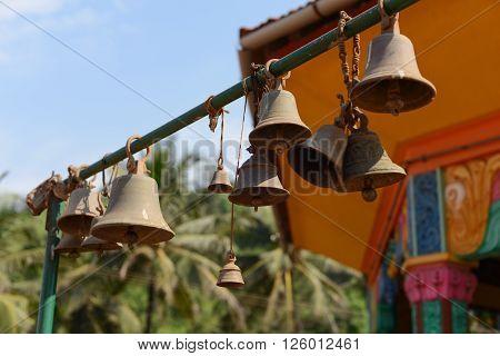 Hindu Temple In Goa, India