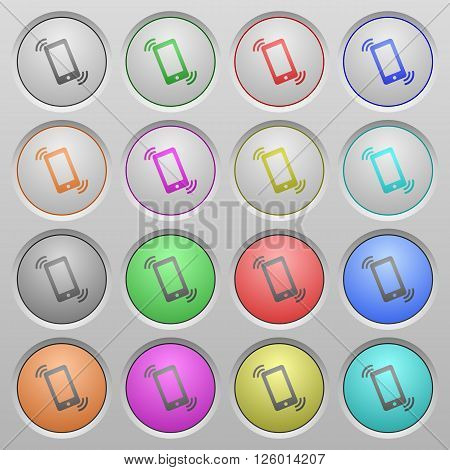 Set of ringing phone plastic sunk spherical buttons.