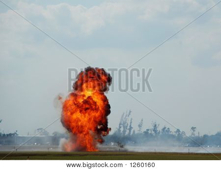 Large Industrial Explosion