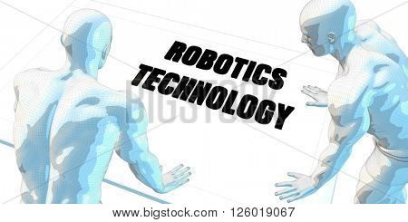 Robotics Technology Discussion and Business Meeting Concept Art 3d Illustration Render