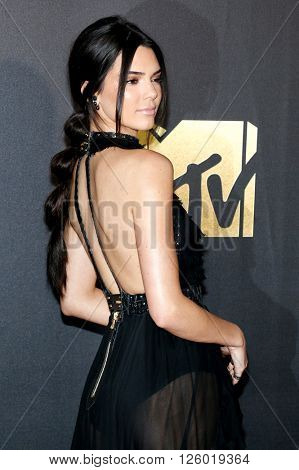 Kendall Jenner at the 2016 MTV Movie Awards held at the Warner Bros. Studios in Burbank, USA on April 9, 2016.