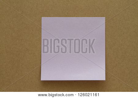 Blank Sticky Note. Write your message. Colorful sticky note.