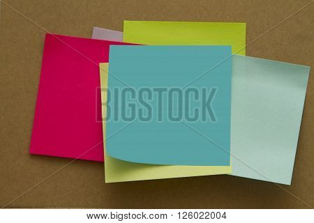 Blank Sticky Notes. Write your message. Colorful sticky notes.