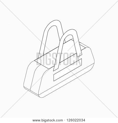 Sports bag icon in isometric 3d style on a white background