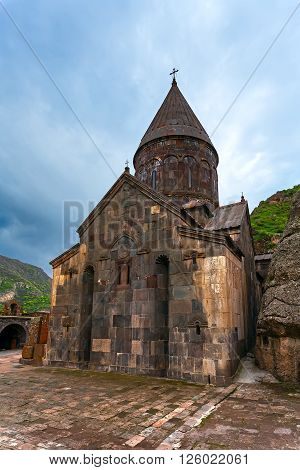 The temple GEGHARD monastery (Armenia) religion architecture