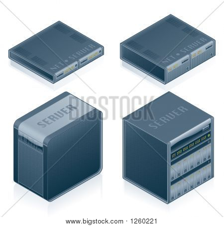 Computer Hardware Icons Set - Design Elements 55E