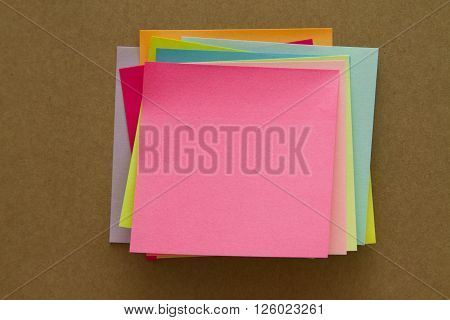 Blank Sticky Notes. Write your message. Colorful sticky notes