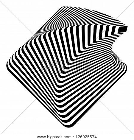 Design Monochrome Pyramid Illusion Background