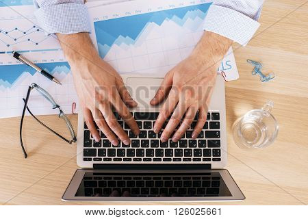 Typing On Keyboard Business Report