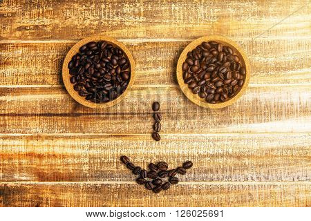 Coffee Bean Smiley