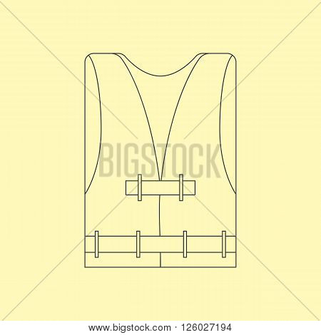 Life Vest Icon. Safety Vest Icon. Vector illustration