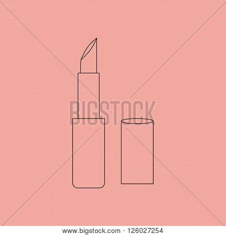 Lipstick Make Up Icon. Red lipstick. Vector illustration