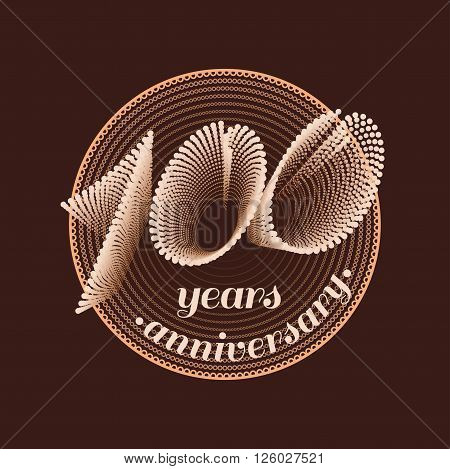 100 years anniversary vector icon. 100th celebration design. Golden jubilee symbol