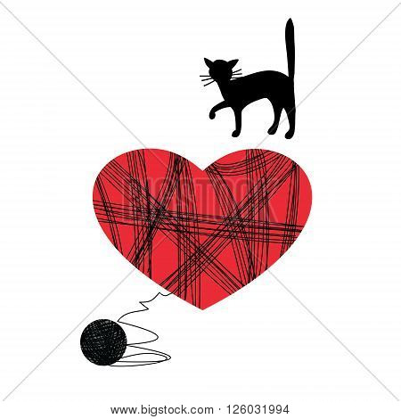 vector illustration can serve as a card for Valentine's Day