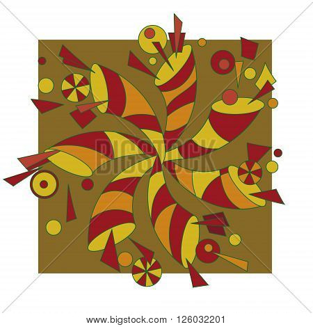 abstract geometric pattern can be used as a decoration or logo