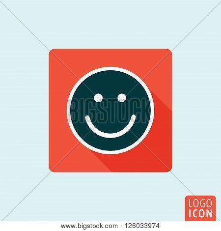 Smile icon. Laughter flat design symbol. Vector illustration