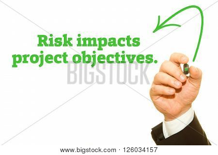Risk impacts project objectives message written under torn paper.
