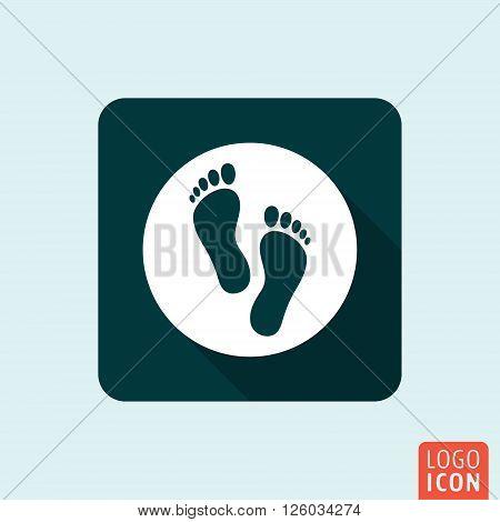 Feet icon. Foot print symbol. Vector illustration