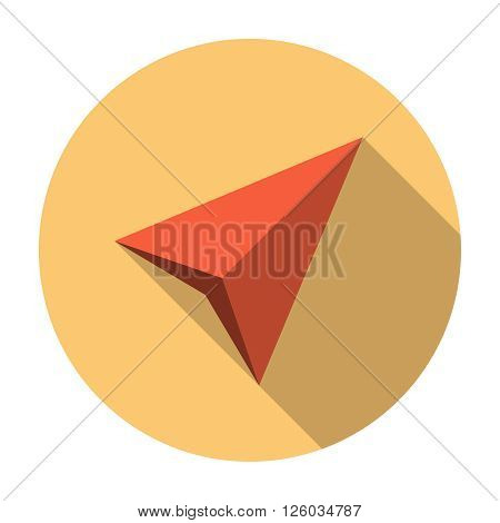 Gps navigation arrow icon. Navigation vector element