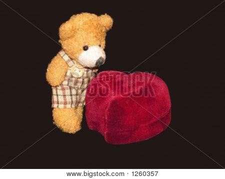 Small Teddy Bear With A Ringbox