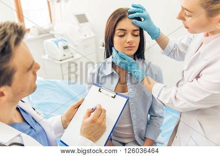 Woman At The Plastic Surgeon