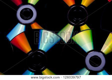 Close Up Reflections And Colors On Compact Discs 2