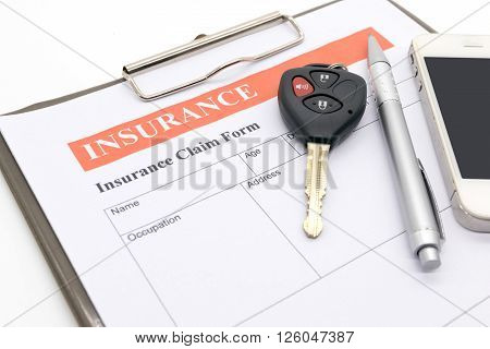 Car insurance form,  document, defence, form, key,