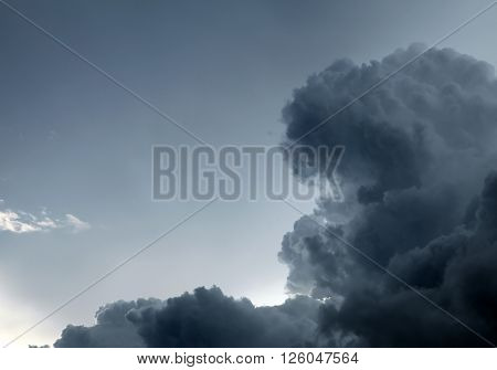 Storm Cloud closeup on the Sky Background
