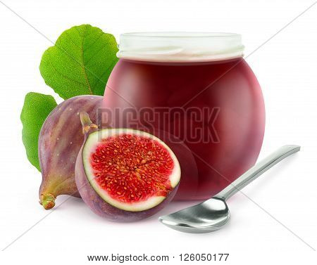Isolated Fig Jam