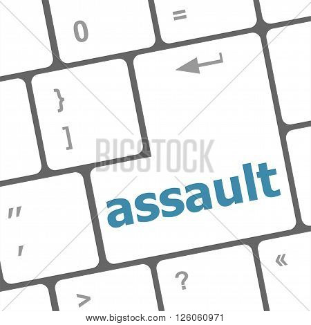 Keyboard With Enter Button, Assault Word On It