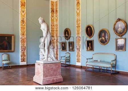 SAINT PETERSBURG, RUSSIA - APRIL 11, 2016: Interior of the State Russian Museum.  The museum is the largest depository of Russian fine art in St. Petersburg