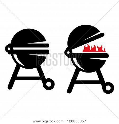 Grill BBQ Vector illustration. Barbecue grill icon