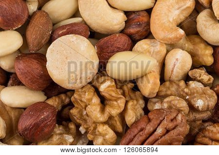 Lot Of Different Types Of Nuts