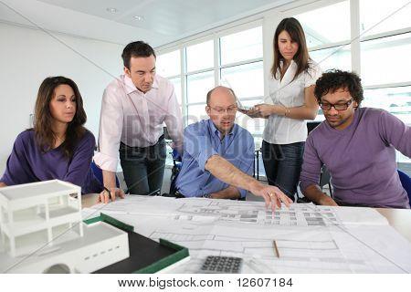 Architekten-Sitzung