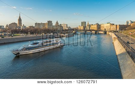 Moscow Russia - April 11 2016: the Cruise ship