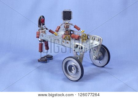 figures of people made of electronic components