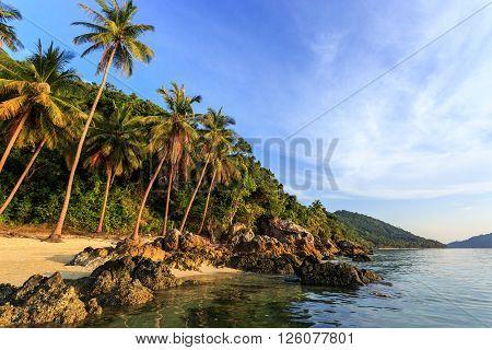 Taling Ngam Beach At Evening