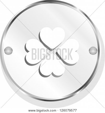 Button With Heart Set Sign, Icon Isolated On White