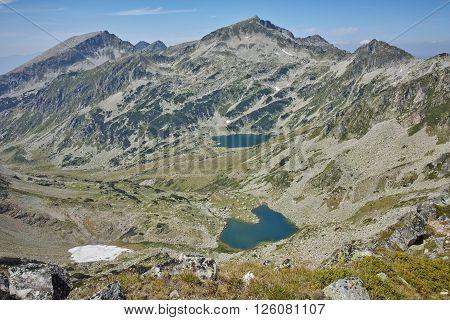 Argirovo and Mitrovo lakes - view from Dzhano Peak, Pirin mountain, Bulgaria