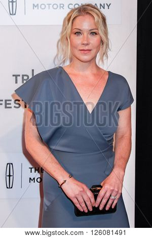 NEW YORK, NY - APRIL 16: Christina Applegate  at 'Youth In Oregon' Premiere - 2016 Tribeca Film Festival at  BMCC Tribeca Performing Arts Center on April 16, 2016 in New York City